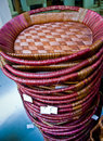 Stack of baskets Stock Image