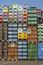 Stack of Beverage Crates Stock Photos
