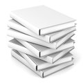 Stack of blank books over white Royalty Free Stock Photos