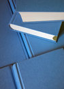 Stack of blue books. Royalty Free Stock Photo