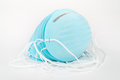 Stack of Blue Dust Masks. Royalty Free Stock Photo