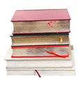 Stack of books expensive isolated on white background Royalty Free Stock Photos