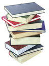 Stack of books isolated over white Royalty Free Stock Image