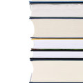 Stack of books isolated on a white background Stock Photos