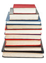 Stack of books isolated on white background Royalty Free Stock Image