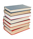 Stack of books isolated on white background Stock Photography