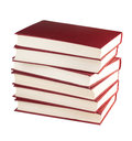 Stack of books isolated on white background Royalty Free Stock Photography