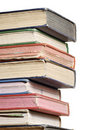 Stack of books three quarter Royalty Free Stock Photo