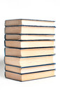 Stack books white background Royalty Free Stock Photography