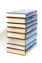 Stack books white background Stock Photos