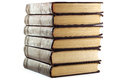 Stack of books on white background Royalty Free Stock Photos