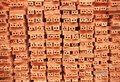 Stack of brickwork Royalty Free Stock Image