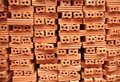 Stack of brickwork Stock Images