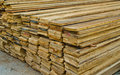 Stack of Building Lumber Stock Image