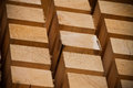 Stack of Building Lumber Stock Photography