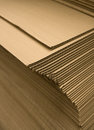 Stack of cardboard new piled Royalty Free Stock Photo