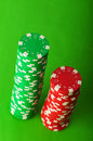 Stack of casino chips Royalty Free Stock Photo