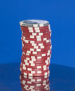 Stack of casino poker chips Royalty Free Stock Photo