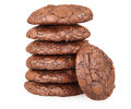 Stack of chocolate brownie cookies Stock Photography