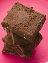 Stack Of Chocolate Brownies Stock Photo