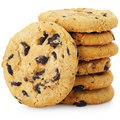 A stack of chocolate chip cookies Stock Photos