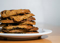 Stack of chocolate Chip Cookies Royalty Free Stock Photo