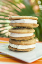 Stack of Chocolate Chip Ice Cream Sandwiches Royalty Free Stock Photo