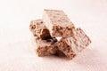 Stack of chocolate nougat Stock Photos