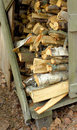 Stack of chopped firewood Royalty Free Stock Images