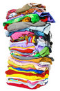 Stack of clothes Royalty Free Stock Photo