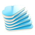 Stack of cloud shaped hdd server components Royalty Free Stock Image
