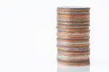 Stack of coins Royalty Free Stock Photo