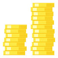 Stack of Coins Flat Icon Isolated on White