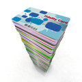 Stack of colored fidelity cards Royalty Free Stock Photos