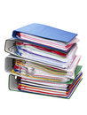 Stack of colored folders Royalty Free Stock Photo