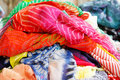 Stack of colorful  fabrics Stock Photography