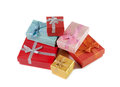 Stack of colorful gift boxes Royalty Free Stock Photo