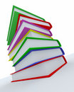Stack of coloured books Stock Photography