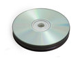 Stack of compact discs on white Stock Photos