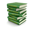 Stack of compliance and rules books (clipping path included) Royalty Free Stock Photo