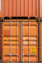 Stack of container ship yard door Stock Photography