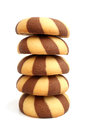 Stack of cookies on a white background Stock Image
