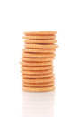 Stack Of Crackers Royalty Free Stock Images
