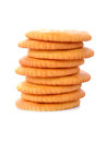 Stack of crackers Royalty Free Stock Photo