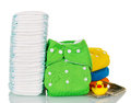 Stack Of Disposable And Cloth ...