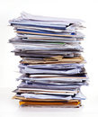 Stack of documents Royalty Free Stock Images