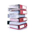 Stack of documents isolated and papers Royalty Free Stock Photos