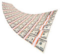 Stack of dollars isolated on a white background Royalty Free Stock Photography