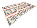 Stack of dollars isolated on a white background Royalty Free Stock Photos