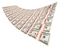 Stack of dollars isolated on a white background Royalty Free Stock Photo